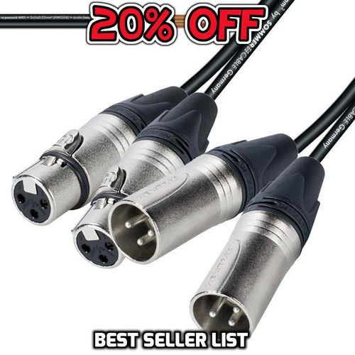 Twin Male XLR Twin Female XLR