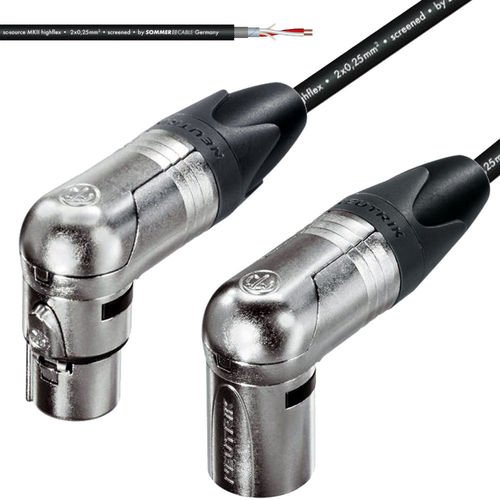 Neutrik XLR Angle NC3FRX To Angle XLR-NC3MRX Mic Studio-Cable | procables.audio