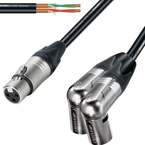 Female XLR To Twin Male XLR NC3FXX - NC3MRX| ProCables.Audio