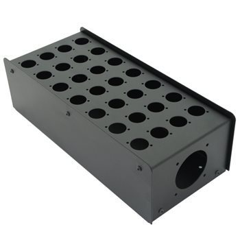 Penn Elcom 28 Hole Stage Box Punched for D-Series Connectors | Pro. Audio Cables