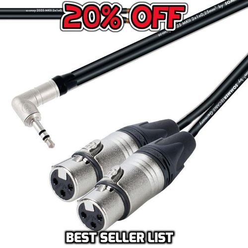 Y Splitter 3.5mm TRS To Twin Female XLR NTP3RC 2 x NC3FXX  | ProCables.Audio