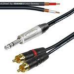 Stereo NP3X Jack Y Splitter  RCA Twin NYS373-02